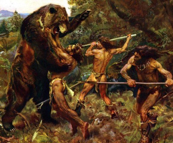 猛獣との闘い